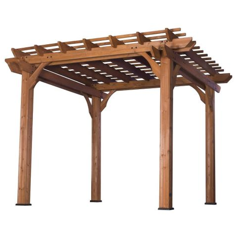 Best price bamboo pergola green ecological wood pergola for outdoor