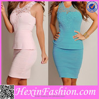 Hexin Fashion Sexy Boutique Celebrity Wholesale Bandage Dress 2014