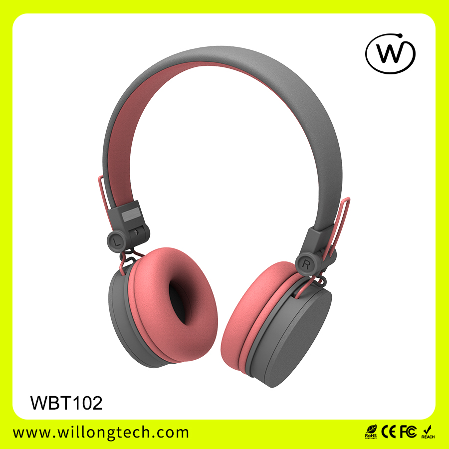 Wireless Bluetooth headphone stereo ear muff universal for computer smart phone silent disco with mic handsfree