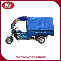 2016 Three wheel delivery tricycles/Enclosed 3 wheel motorcycle for cargo and passenger in Guangzhou factory cheap for sale