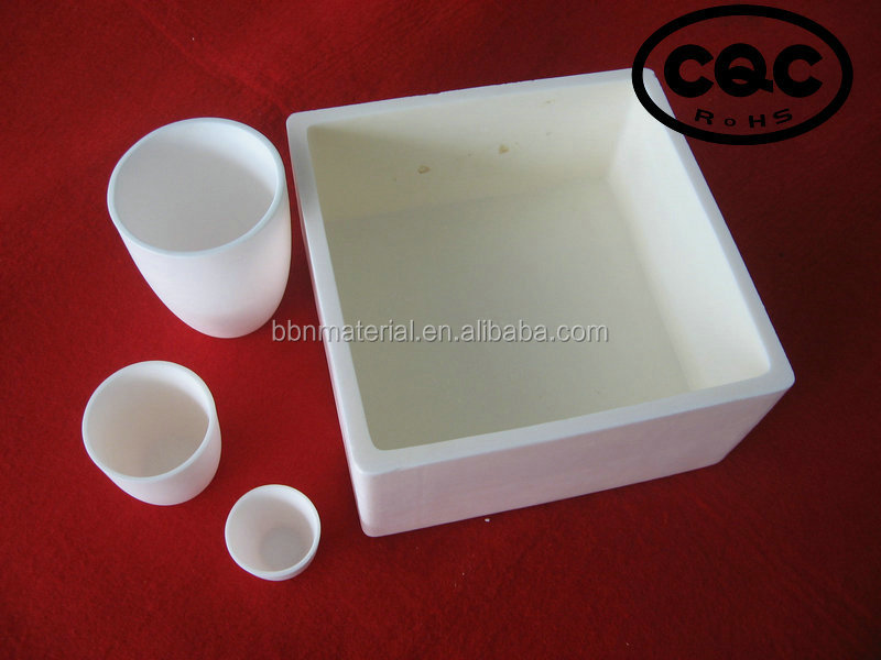 Alumina ceramic crucible for high temperature furnace and crystal pulling tool