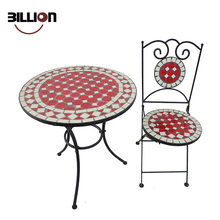 Low Price Metal Red Mosaic Garden Furniture Outdoor