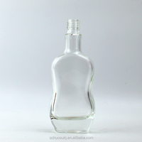 100ml Customized Wine Bottle with Thick Bottom/Empty Tequila Glass Bottle Wholesale Manufacturer