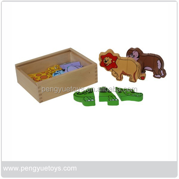 Wooden Magic Magnetic animal puzzle cubes,PY1113