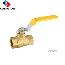 free sample full port Forged NPT Brass 6 inch ball valve with copper/iron ball dn32 brass ball valve 2""