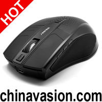 Bluetooth Optical Mouse with Built-in Speaker, 1600DPI (Black)