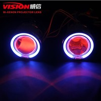 VS M330 2.5inch Bixenon Moto Headlight Special Hid Bulb CCFL Angel Eyes Hid Bi-xenon Projector Headlight With Devil Eye