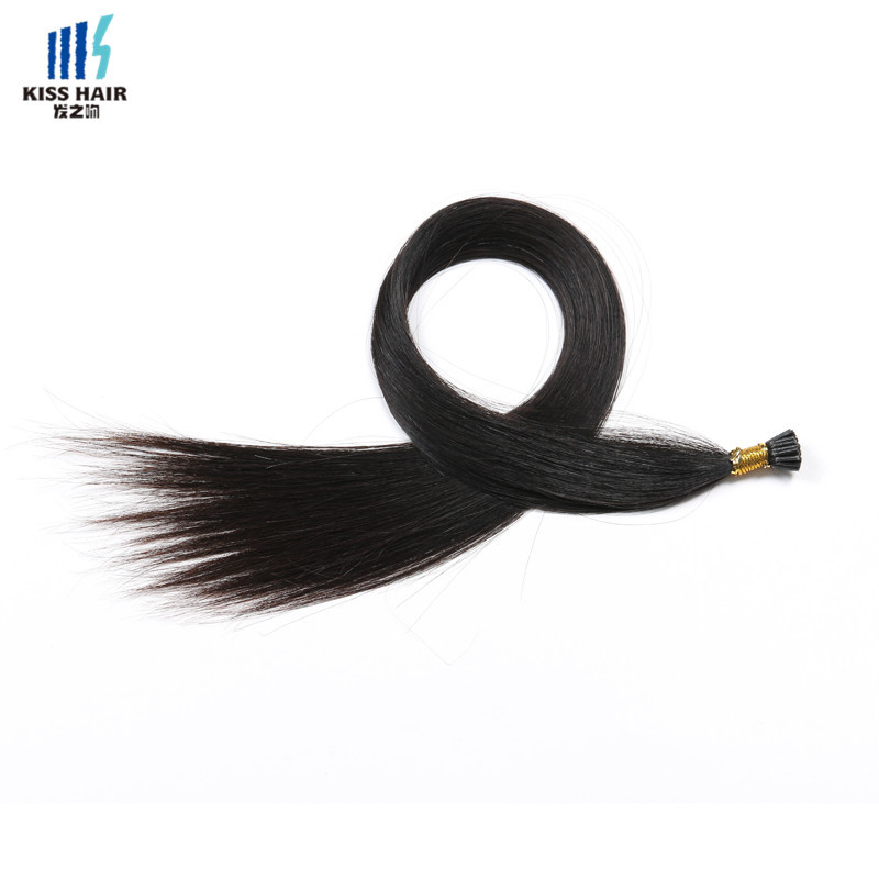 Top Quality 100% Virgin Remy Human Type Brazilian Hair Extension Stick Double Drawn I Tip Hair