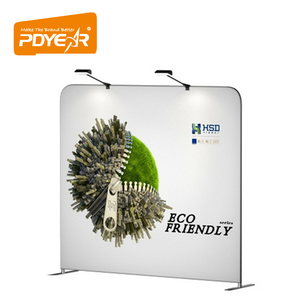 Custom exhibition stands material tension fabric display stand,no tools advertise trade <strong>show</strong> display