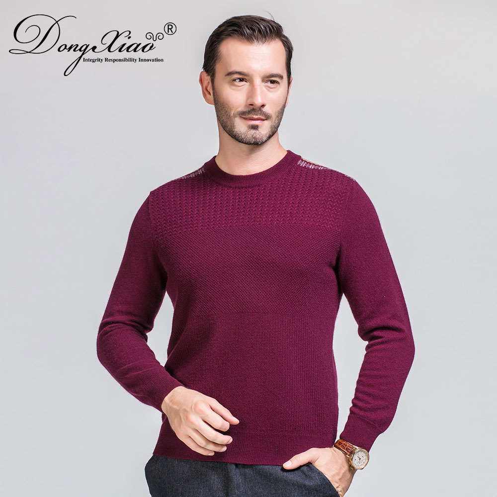 China Factory Crew Neck Shoulder Strip Knit Sweater Men With Competitive Price