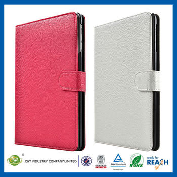 C&T Graceful real leather folio stand case cover for ipad mini 2