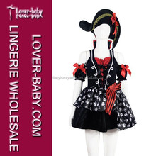 Three-piece Festival Christmas Birthday Buccaneer Costumes Pirate for Halloween Party