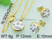 2016 trending products crystal gold jewellery design mother day gifts