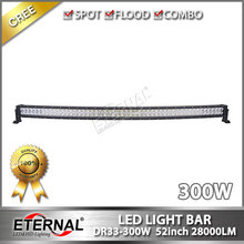 52in 300W high power offroad powersports 4WD UTV ATV SUV 4x4 racing vehicles bune buggy truck tractor led light bar