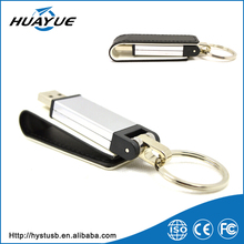 2015 promotional products swing metal lether usb memory stick full color 2.0/3.0 U disk wholesale with chain