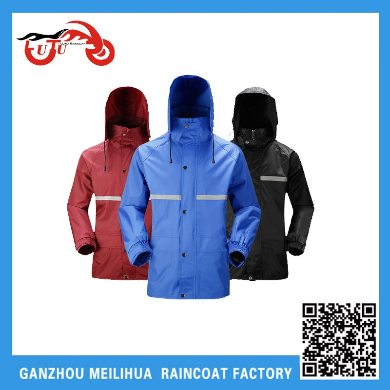High Visibility safety 100% Polyester waterproof,breathable rain coat /raincoat