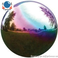 Colorful 1500mm stainless steel gazing ball /sculpture