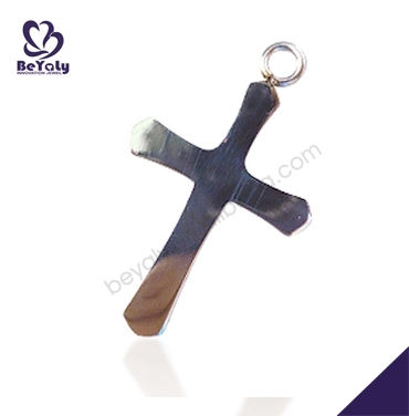Earthy tones fashion style titanium unique personalized wood cross pendant