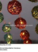 Small round rattan ball for christmas decoration