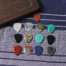 Manufacturer natural semi-precious stones guitar pick sheet gem stone musical instrument
