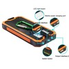 Emergency USB portable solar power bank 12000mah ,protable battery charger, mobile phone station