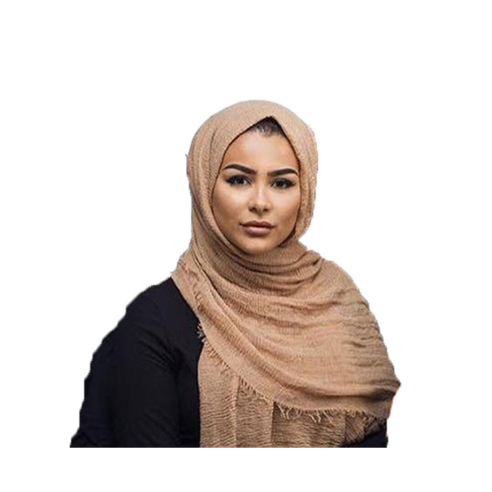 70 Colors High Quality Fashion Long Women Crinkle Hijab Muslim Crinkle <strong>Scarf</strong> For Female