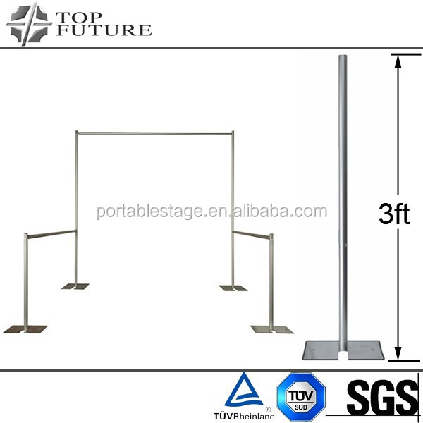 trade show booth event portable pipe and drape system, fixed upright TF315 , sliver/black
