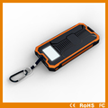 8000mAh Solar Charger, external battery solar power bank with camping led lamp