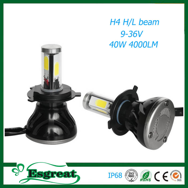 China suppliers G5 H4 H13 9004 9007 4000LM IP68 motorcycle parts Led Halo Headlight Bulbs used for toyota land cruiser