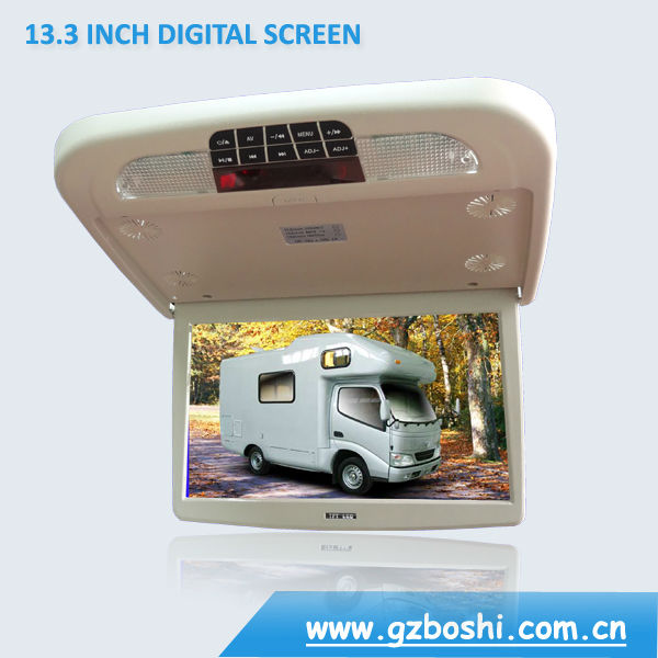 13.3inch Car Flip Down DVD Player With Entertainment System