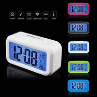 5 Colors LED Alarm Clock,despertador Temperature Sounds Control LED display,electronic desktop Digital table clocks