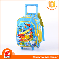Eco-friendly 600D children travel trolley sexy blue school girl with wheel