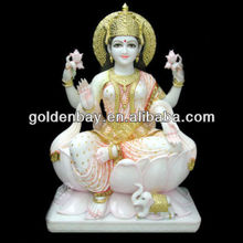 indian temples for home marble Laxmi Deities statue lord sculpture white makrana handmade religious art