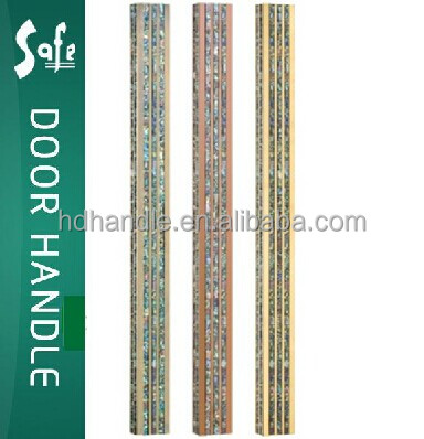 classic and luxury outlook metal with shell door handle pull handle for hotel or house