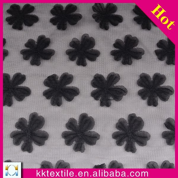 Tiny chiffon flower embroidery mesh lace 100% polyester embroidery garment lace fabric