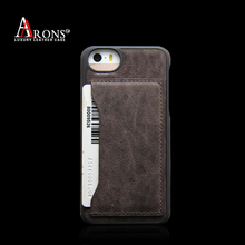 High quality genuine cowhide leather smartphone wallet back cover for iphone5/5s/se