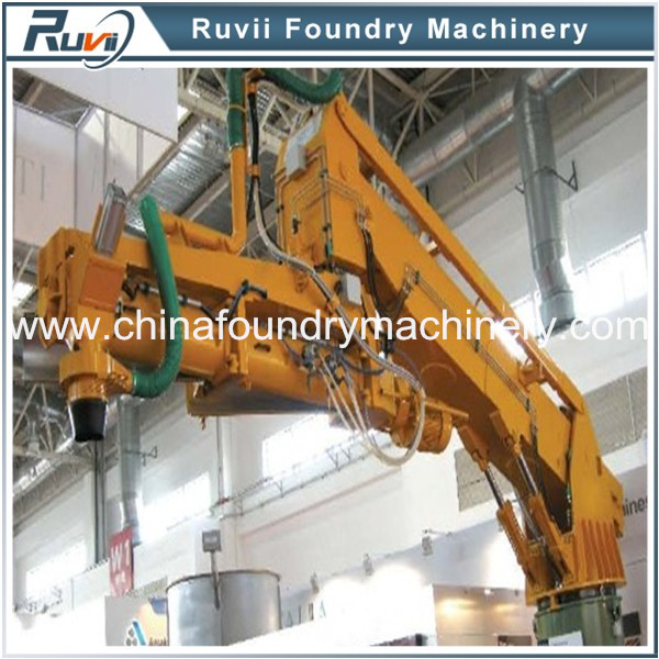Resin coated sand mixing machine for steel and iron casting in foundry