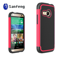 Hot red durable stylish mobile case for HTC one 2 mini accessories / smart cover for HTC one m8 mini phones