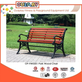hot sale high quality wood park furniture bench park chair model opfw0201