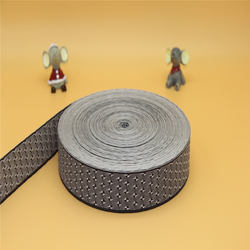 Factory direct sale 2C-8CM PP jacquard ribbon for mats