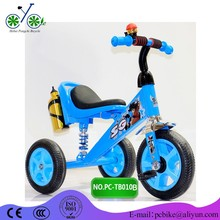 simple children tricycle with bottle and suspension and soft saddle