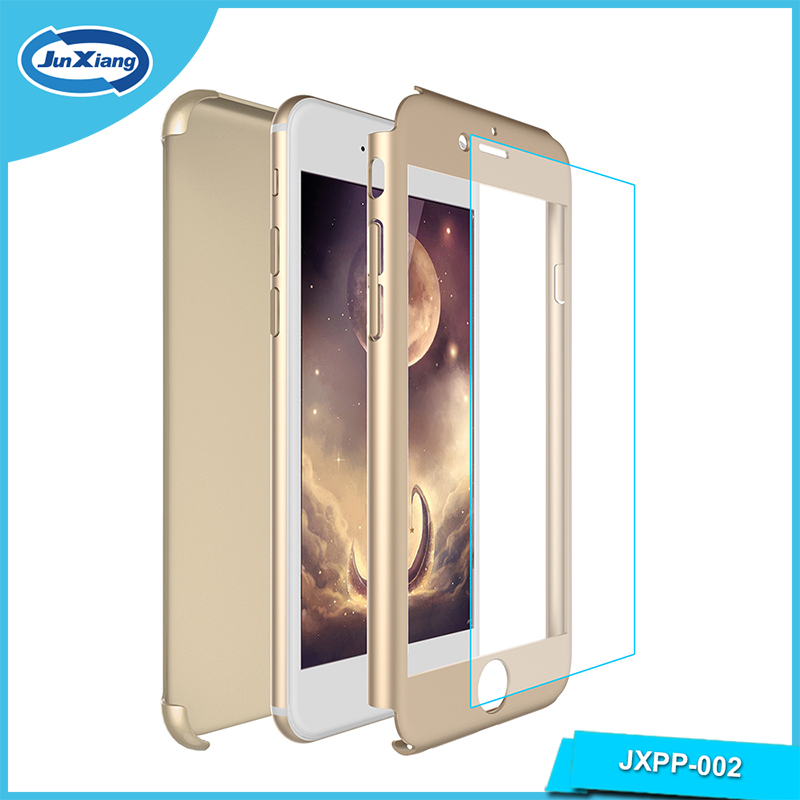 360 Degree 2 in 1 Full Cover Protective Case with Tempered Glass Screen Protector for Iphone 6s