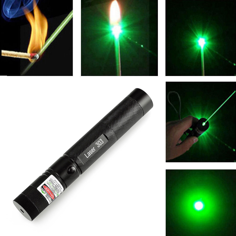 Promotion High Quality laser pointer jd-303 200mW Power Green Laser Pointer Pen Lazer Burning Match + Safe Key