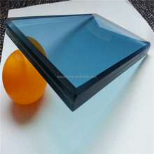 8mm+1.14+8mm ocean blue pvb double glazed laminated tempered glass