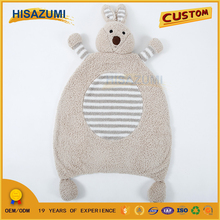 Hisazumi Direct Factory Plush Cute Rabbit Animal Shaped Floor Rug for Baby