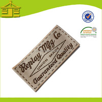 China manufacturer hot sales embroidered woven neck label for clothing