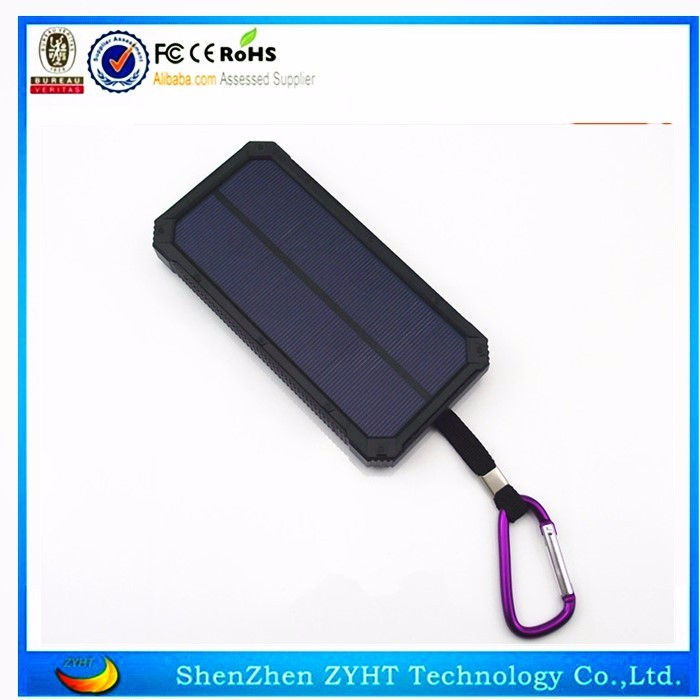 Solar power charger in 8000mah with dual usb output h