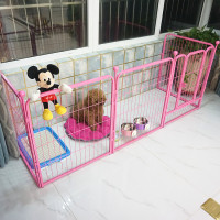 adjustable pet fence animal cage 6 panels dog run animal playpen