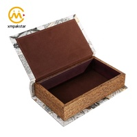 Wholesale luxurious cardboard custom printed empty paper decoration fake book packing box