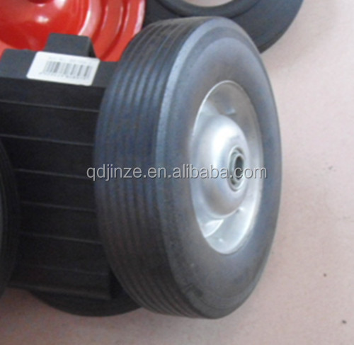10 inch solid wheelbarrow tires, solid wheels for beach cart